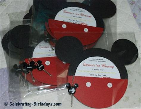Mickey Mouse Handmade Invitations - handmade mickey mouse clubhouse pocket birthday