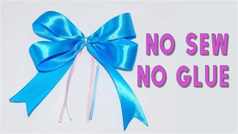 diy crafts how to make simple easy bow no sew no