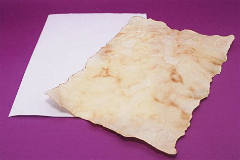 How To Make Paper Look Like A Scroll - how to make parchment like paper for writing 8 steps