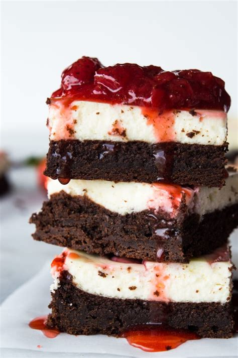 Brownies Special Topping strawberry cheesecake brownies the recipe critic