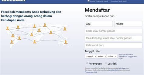 cara stel fb dan bbm daftar facebook baru cara daftar fb via hp android dan