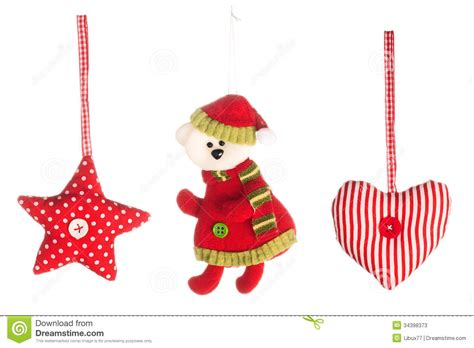 christmas tree decorations collection stock photos image