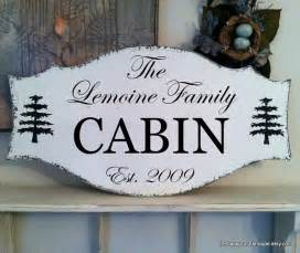 cabin sign family signs house signs by