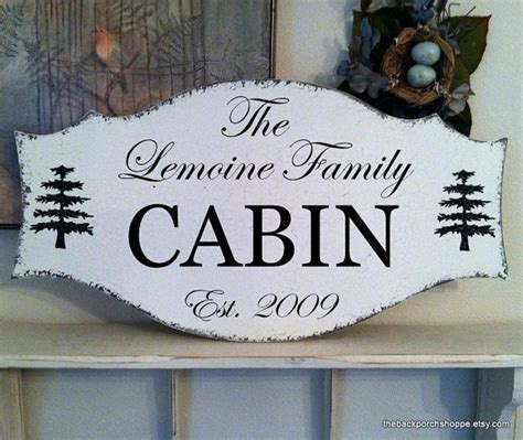 Cabin Signs by Cabin Sign Family Signs House Signs By Thebackporchshoppe