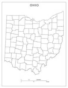 Ohio Map With Counties by Ohio Blank Map