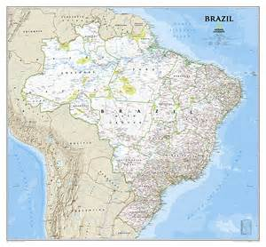 south america wall map brazil classic south america reference maps wall maps