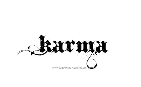 tattoo fonts karma karma name designs karma designs and