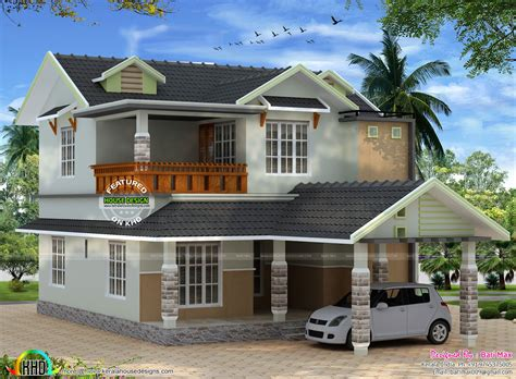 kerala sloped roof home design october 2015 kerala home design and floor plans