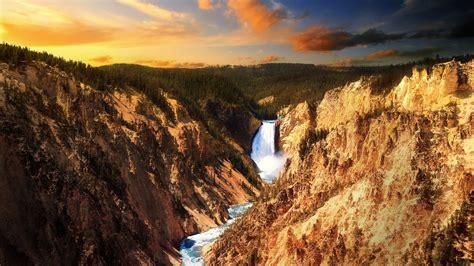yellowstone lower falls waterfall in yellowstone relaxing lower falls of the yellowstone river 1 hour
