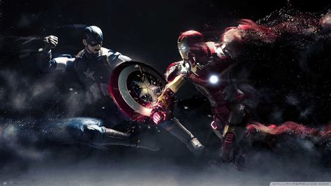 captain america iron man p wallpaper