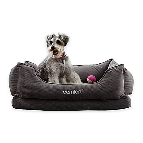 serta dog beds buy serta 174 icomfort 174 cuddler medium pet bed in grey from bed bath beyond