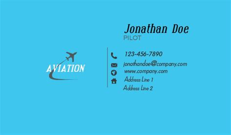 Aviation Business Cards Templates Free by Aviation Business Cards Business Cards Aviation