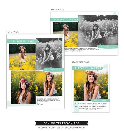 Senior Yearbook Ads Collection I Birdesign 1 2 Page Yearbook Ad Template