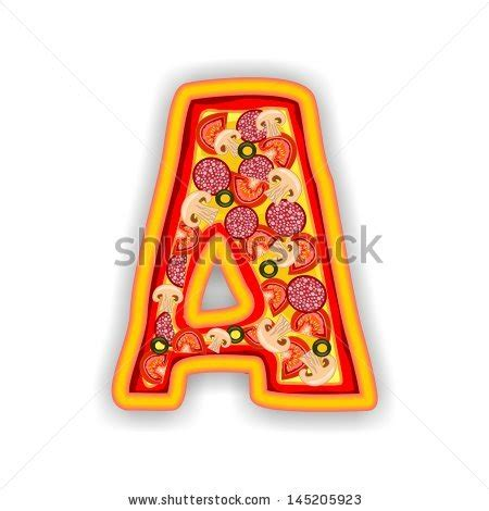 Letter Pizza Stock Images Similar To Id 82354771 Vector Illustration Of Cheddar