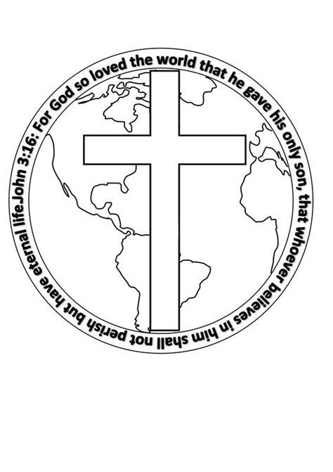 coloring page for god so loved the world free printable template colouring craft john 3 verse 16