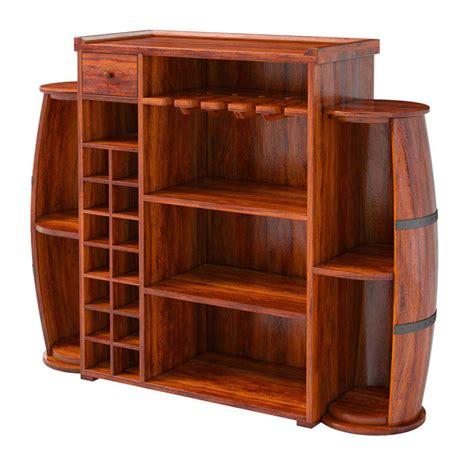 Bar Storage Cabinet Harrod Handcrafted Rustic Solid Wood Barrel Design Home Bar Cabinet