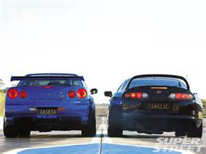 Skyline Vs 1994 Toyota Supra Tt And 2000 Nissan Skyline Gt R Black