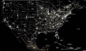 us map of lights at wordlesstech we are losing our starry