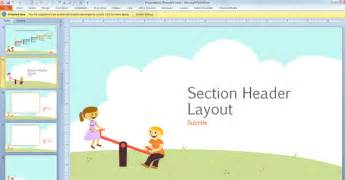 Powerpoint Template Children free children powerpoint template with for