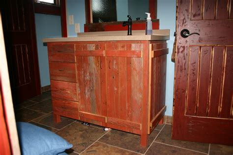 barn board bathroom vanity distressed barn board vanity eclectic bathroom
