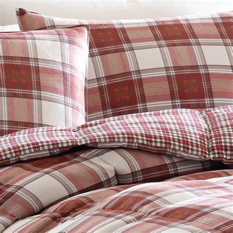 red plaid bedding eddie bauer edgewood plaid comforter set from beddingstyle com
