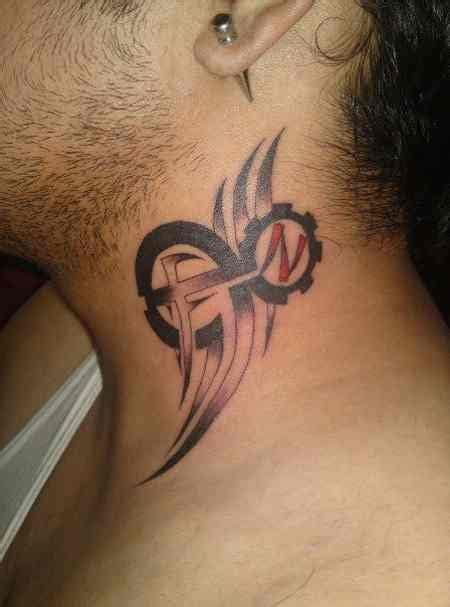 tribal side tattoos for guys guys 86 tribal sign on side of neck