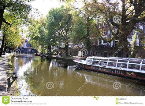 boat tour utrecht price utrecht art city boat in oudegracht holland editorial