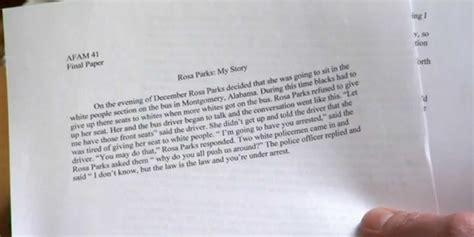 one paragraph essay sle unc athlete essay on rosa parks gets a minus business