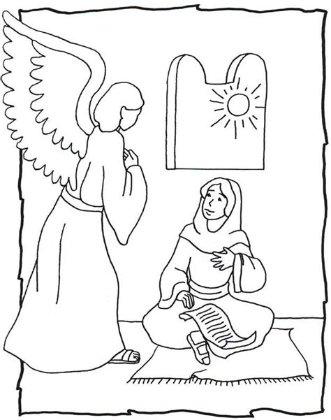 coloring page angel visits joseph best 25 the angel gabriel ideas on pinterest the angel