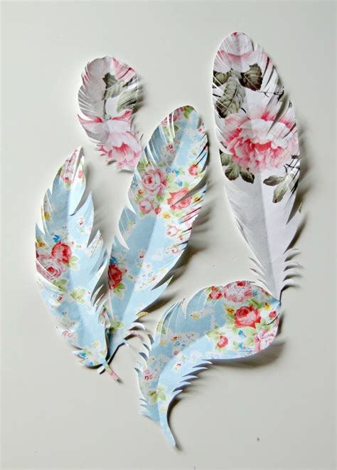 Scrapbook Paper Crafts - diy feather home decor ideas paper feathers feathers