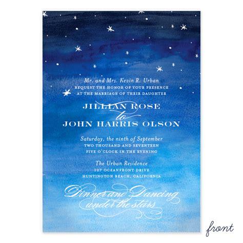 Starry Wedding Invitations