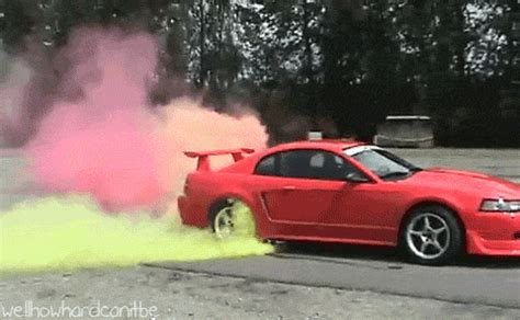 color burnout tires well how can it be