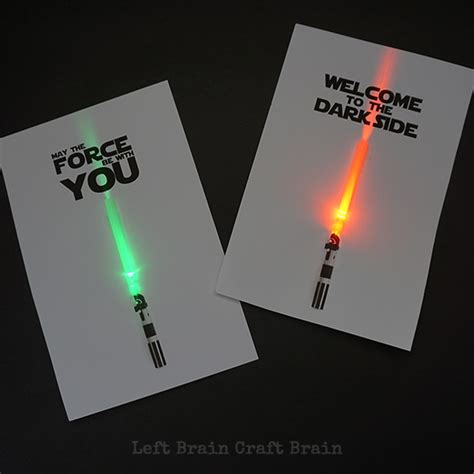 stin up star of light card light up may the fourth be with you cards left brain