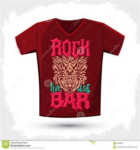 design t shirt rock vector rock bar t shirt design template silkscreen metal style