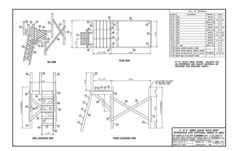 4x6 shooting house plans deer stand plans 6x6 for house and home