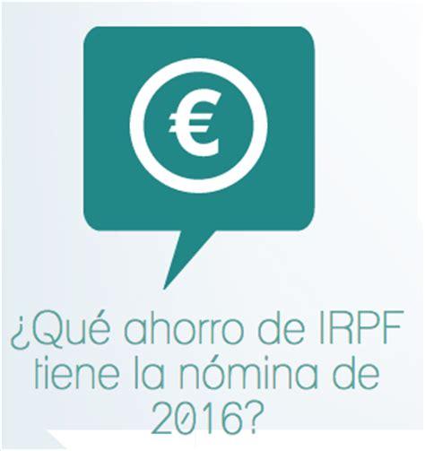 irpf nominas 2016 rebaja del irpf en tu n 243 mina de 2016 rankia