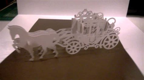 pop up cinderella carriage card template carriage pop up