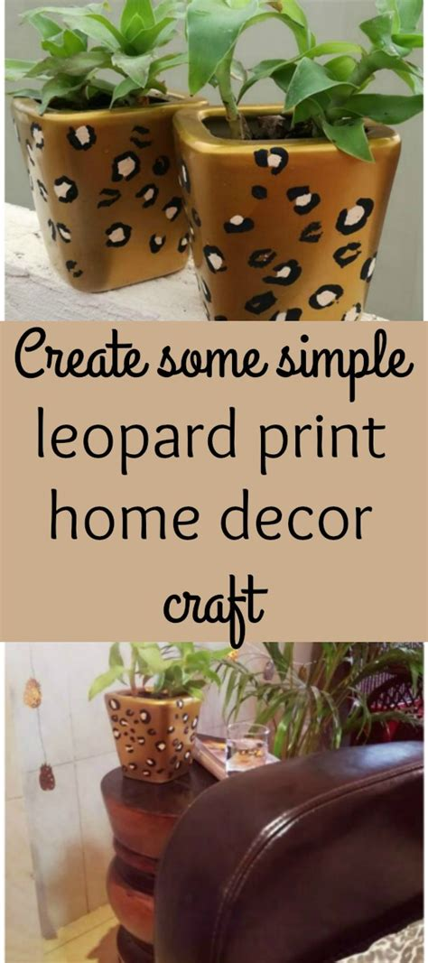 leopard print home decor easy leopard print painting tutorial the spring mount 6 pack