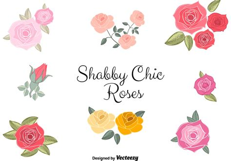 free vector shabby chic roses download free vector art