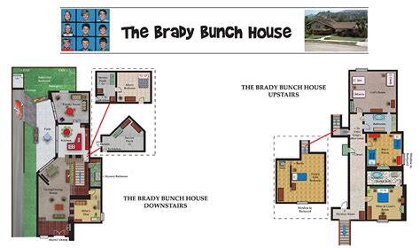 The Brady Bunch House Floor Plan by The Real Brady Bunch House Floor Plan Brady Bunch Floor