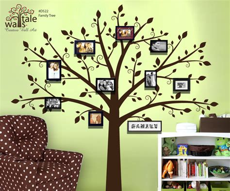 large photo tree wall decal for nursery family tree