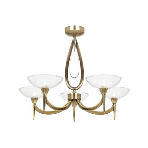 Antique Brass Lights Ceiling by Endon Lighting Harrison Harrison 5ab Antique Brass Semi
