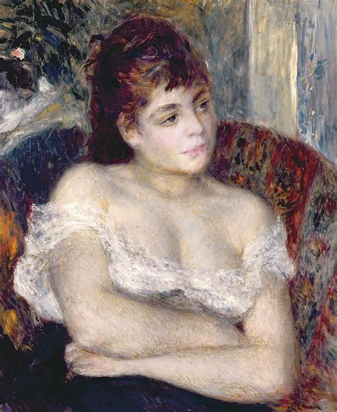 woman in an armchair woman in an armchair by pierre auguste renoir