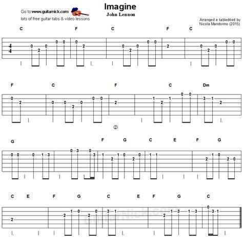 guitar tutorial with tabs imagine easy guitar tablature more on www guitaristica