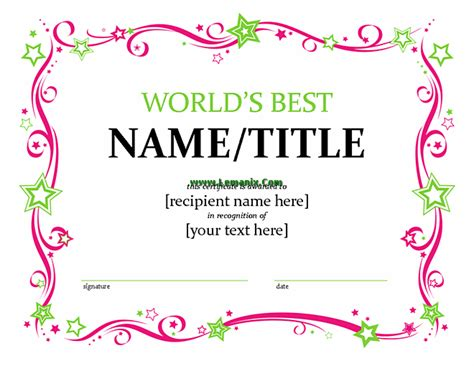 Microsoft Related Office Templates For Ms Office Software Microsoft Publisher Certificate Templates