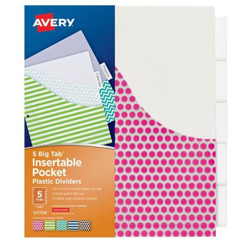 staples 5 large tab insertable dividers template avery big tab 5 tab pocket insertable plastic dividers set