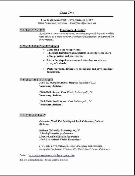 the brilliant sample vet tech resume resume format web
