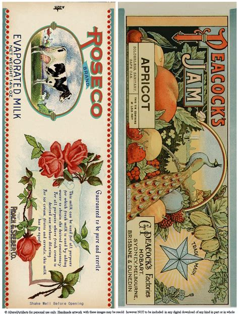 printable vintage labels for cans 4 best images of vintage tin can labels printable tin