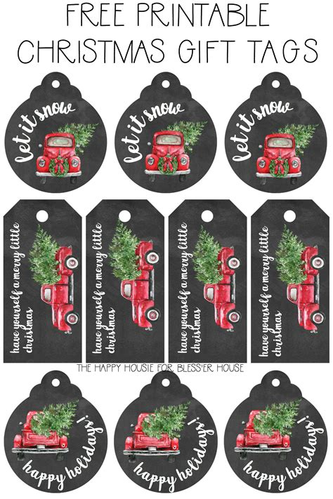 2018 christmas gifts for truckers free printable gift tags bless er house