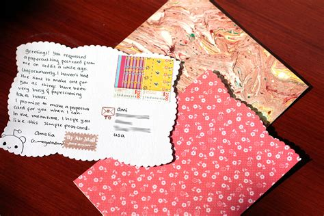 Handmade Diy - diy simple handmade postcards amel writes